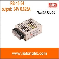 Free Shipping- RS-15-24 single output switching power supply output  24V 0.625A meanwell  rs-15-24  RS1524 -New and original