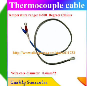 2.0M 3d printer K stype thermocouple  temperature sensor K stype  probe  shielding temperature measuring line cable