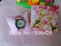 Free Drop Shipping 1pcs TinkerBell Magic Fairy cartoon CHILDREN WRIST Watch NEW with gift box GIRL
