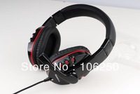 Free shipping 3.5mm Jack Stereo Headphones Headset Earphones with Microphone (kanen KM-790) for PC Mobile Phone MP3 MP4 Player