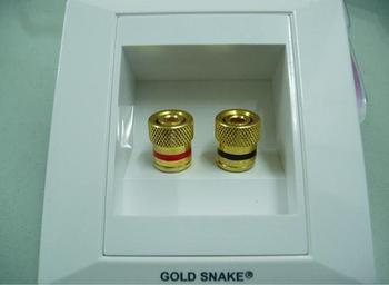 Gold snake audio panel speaker terminal box 8 12 socket