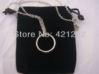 Wholesale GOOD GIFT Fashion Jewelry Lord of the Rings Silver Plated Ring Pendant Chain Necklace w/ black gift bag LOTR
