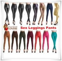 Fashion Women Faux Leather High Waist Leggings 2014 newest model Good quality fashion style