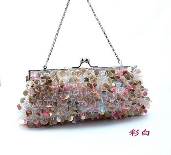 New arrival beaded paillette bag day clutch bag evening bag evening bag wedding accessories handbags wedding package
