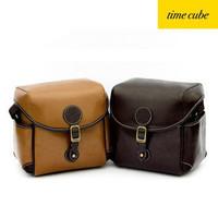 Promotion 2013 Nesest Vintage British Sytle SLRs PU Leather Camera Bag Fashional Retro Shoulder Bag