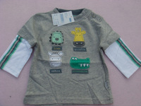 Children's clothing baby autumn patch 100% long-sleeve cotton t-shirt small pumpkin