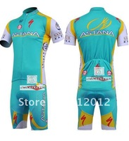 New astana riding a bicycle cycling jersey + cycling shorts (including straps)