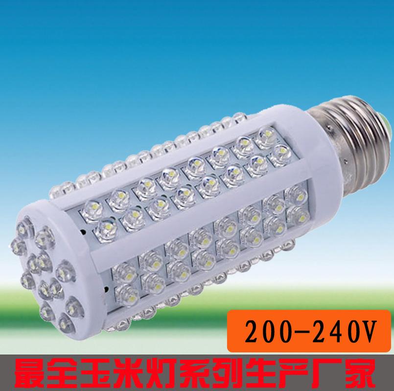 Led energy saving lamp led light bulb standard e27 e14 screw-mount b22 card 5w strawhat 108 beads 220v(China (Mainland))