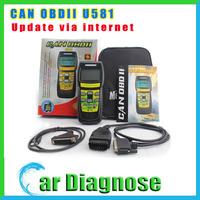Promotion price U581 CAN OBDII/EOBDII Memo Scanner(live data) u 581 code reader