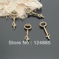Wholesale 40 pieces/lot 35*10MM Vintage Bronze Zinc Alloy Key Charms Necklace Pendant DIY Jewelry Accessories Fittings