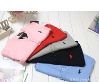 free shipping  colors kids spring autumm  polo v-neck cardigan sweater 100% cotton children tops