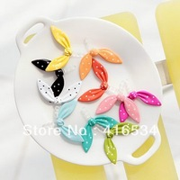 Free shipping Mix color wholesale 50pcs rabbit ear design alloy material phone dustproof plug