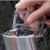 Free Shipping 1000pcs/lot Large Size 11 functions in 1 Multifunction Tool Pocket saber Card Outdoor Camping Survival Knife