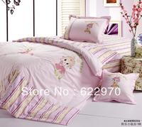 Promotion Free Shipping  Twin/single children 100% cotton 3pcs bedding sets duvet cover Bedding sheet  pillowcase KLXXN