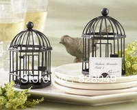 """Factory directly sale 20pcs/lot Wedding favor""""Love Songs"""" Birdcage soy Tea Light/Place Card Holder"""