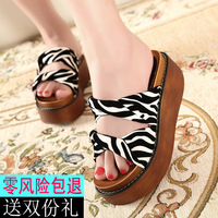 2013 u.s. foot fashion platform sandals open toe slip-resistant leopard print cross women's shoes women's sandals