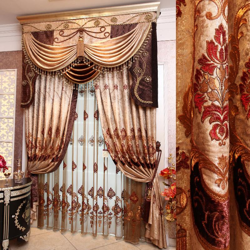 Fashion curtain vintage royal curtain embroidered curtain luxury ...