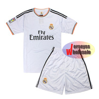 Real Madrid Jersey 2013-2014 White Home Soccer shirts Wholesale Custom Sports Suit Real Madrid Cristiano Ronaldo Jersey for Men