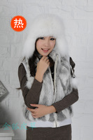 Free shipping ear fur hat lei feng's cap female fox fur hat hat and warm in winter  real fox fur hats for women