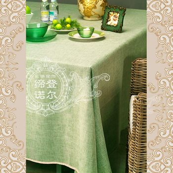 Hot-selling fresh brief rustic dining table cloth tablecloth coffee table fabric linen laciness green 14 customize