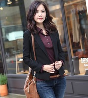 2013 Spring And Summer All-match Slim One Button Women's Suit Jacket Plus Size Blazer FREE SHIPPING