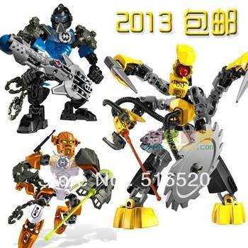 Decool Hero Factory 100B Building Blocks Sets 3pcs/lot Legoland Robot Action Figure Educational DIY Construction Bricks Toys