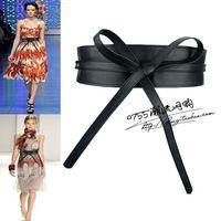 Belt bow belt ring bandage female wide belt one-piece dress belt waist decoration fashion cummerbund
