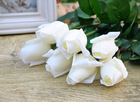2013 High Simulation White Artificial Rose Single real touch latex Flower PU Material in Wedding Decoration(China (Mainland))
