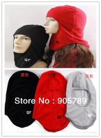 Wholesale 3 Colors Women Polar Fleece Hat Men Scarf  Bike,Motorcycle Hat
