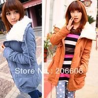 New fashion woman winter jacket coat long warm fleece jackets for women