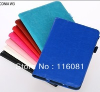 Luxury Leather Case for Acer Iconia W3 Book Style Flip Foilo Skin Cover 8.1 inch Iconia W3 Tab Free Shipping 50 pcs 8 Colors