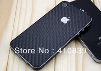 Free shipping! 1Piece/Lot Amazing Carbon Fibre Skin Sticker For iPhone 4G, For iPhone 4/4S Full Body Skin Sticker DS002