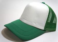 Unisex Classic Trucker Baseball Golf Mesh Cap Hat - Green White Color