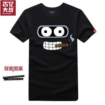 Summer t robot personalized cartoon 100% cotton short-sleeve T-shirt