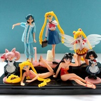 6 Pieces 11CM   Sailor Moon  Princess Dolls Sexy Beautiful Action Toys Figures  WA0011