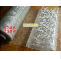 Rose scrub soft glass table cloth table mats crystal pad watermark width 60cm thick 1.5mm
