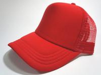 Unisex Classic Trucker Baseball Golf Mesh Cap Hat - All Red Color