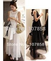 2014 New Summer Fashion Large size Two-Piece sets Chiffon Maternity Dress Pregnant women dresses Maternity Wear 2 colors #YZ1318