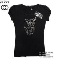 Free Shipping Cu Women rhinestone pasted t-shirt 2013 t-shirt