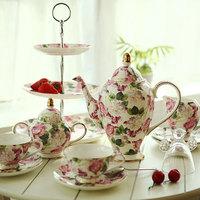 Fashion bone china tea set coffee utensils ceramic coffee cup coffee pot gift set afternoon tea coffee