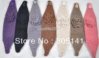 Free shipping ! 7 pcs ! Wholesale HEADWEAR Knit Headwrap Headband Flower Crochet Ear warmer