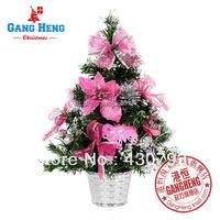 Christmas decoration 40cm pink bundle decoration christmas tree decoration bonsai christmas tree 250g
