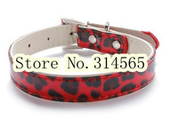 Wholesale 10Pcs/Lot Fine Leopard Dog Collar Pet Collar Pet Supplies  Size XS-L