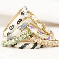 Summer multicolour summer black white green pink gin tea blue champagne quality enamel bracelet fashion hand ring female