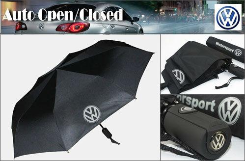 Excellent AUTO Open/Close Folding umbrella VW Volkswagen Passat Polo CC MK4 Golf MK5 CAR Gift(China (Mainland))