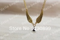 20PCS/lot The Golden Snitch Harry Potter Necklaces personality girl in gold tone