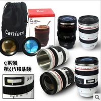 60pcs/lot stainless steel Coffee camera lens mug cup (Caniam) logo the 6th generation white