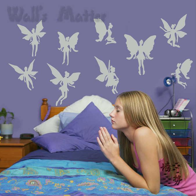 Online kopen wholesale elf muursticker uit china elf muursticker groothandel - Muur kamer meisje ...