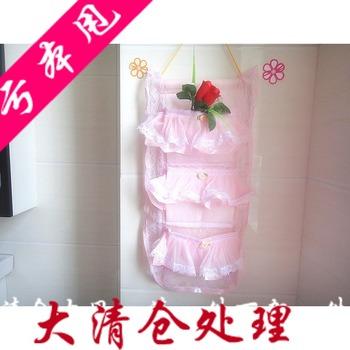 Quality pure lace pink princess bag storage bags wall storage bag