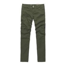 Cargo 2013 women's multi-pocket overalls casual skinny pants Army Green slim elastic(China (Mainland))